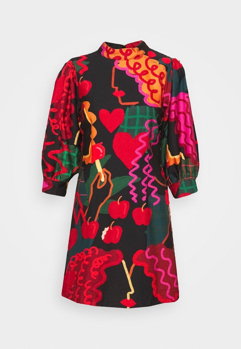 Farm Rio - LOVERS APPLE MINI DRESS - Day dress - multi