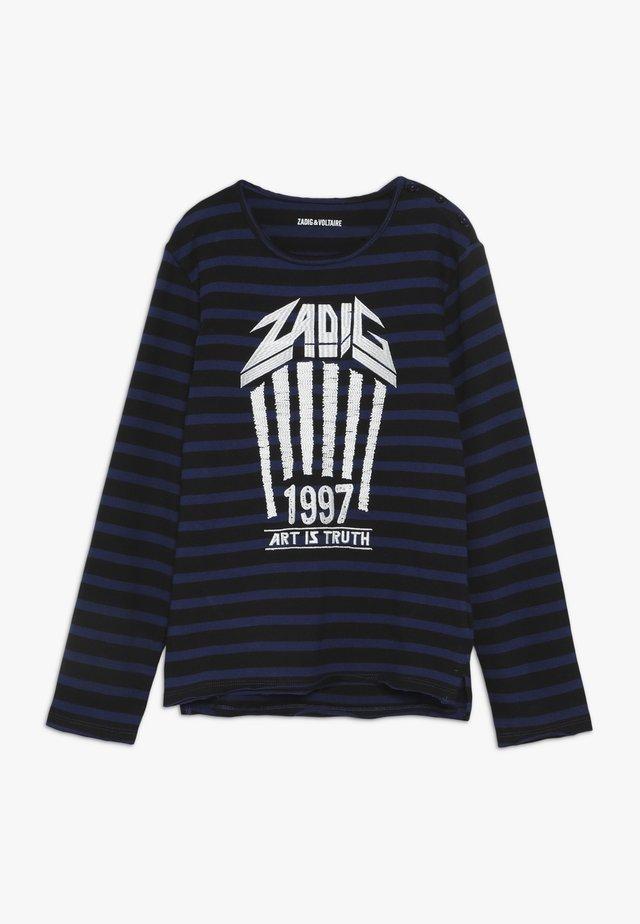 Camiseta de manga larga - schwarz/blau