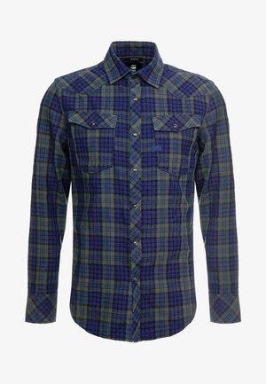 SLIM SHIRT - Skjorte - indigo/dark vermont green