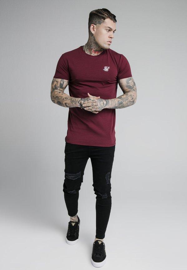SIKSILK SHORT SLEEVE GYM - T-shirt basic - burgundy/bordowy Odzież Męska PNRG