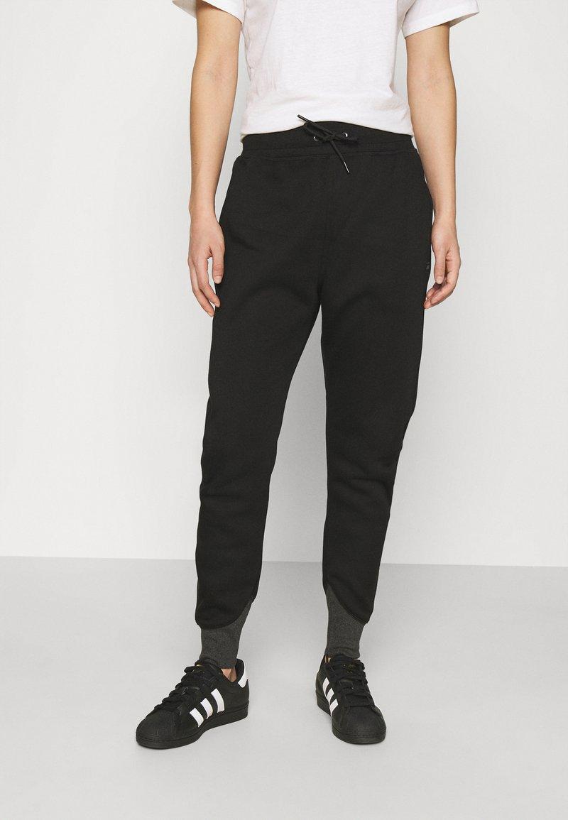 G-Star - PREMIUM TAPERED PANT - Tracksuit bottoms - black