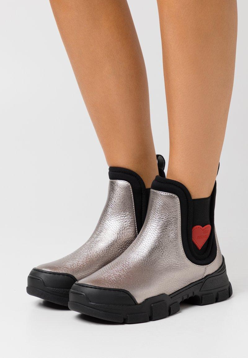 Love Moschino - TREKK - Classic ankle boots - steel