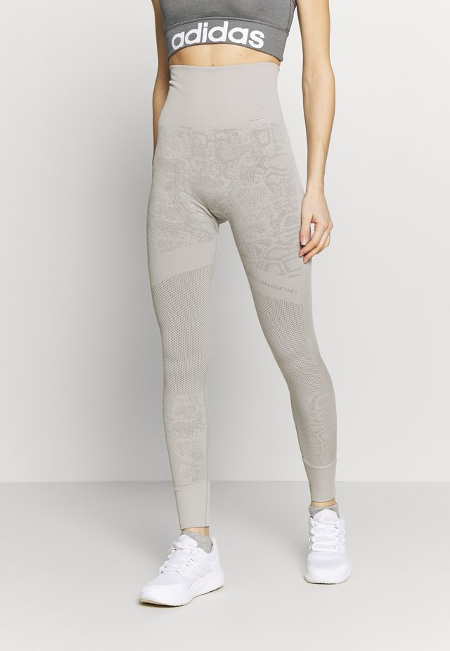 Legginsy - light brown/ice grey