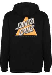 Santa Cruz - UNISEX NOT A DOT HOOD - Zip-up hoodie - black - 1