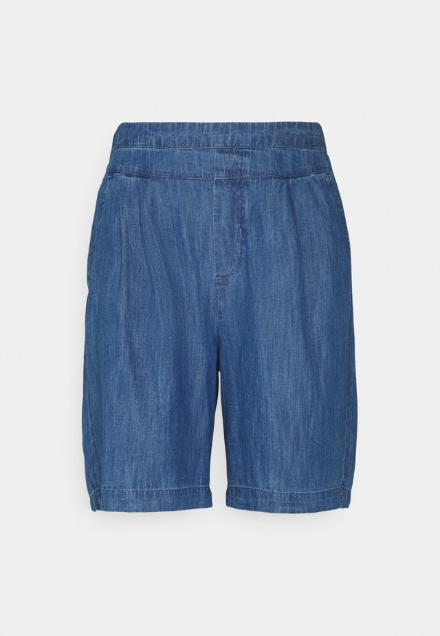 ENCELLA - Denim shorts - blue denim