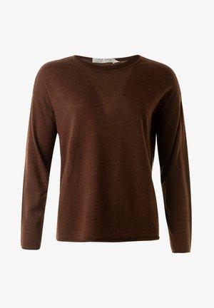 JONATHAN - Stickad tröja - cognacmel