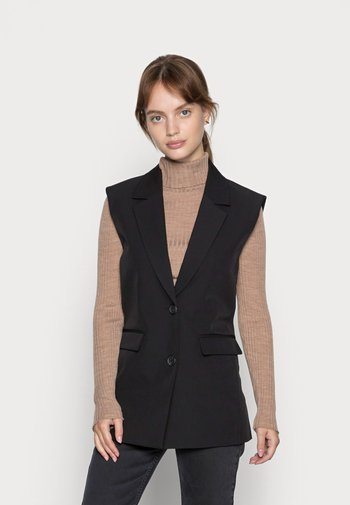PCFLORITA VEST - Waistcoat - black