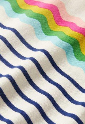 ALLTAGSTAUGLICHES BRETON - Long sleeved top - naturweiß/navy, regenbogenwelle