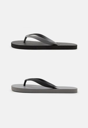 2 PACK RECYCLED - Infradito - black/grey
