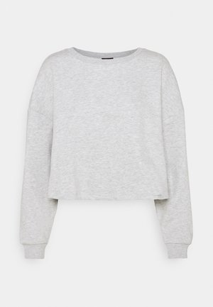 ONYFAVE LIFE O NECK CROPPED - Sweatshirt - light grey melange