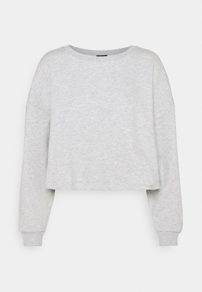 ONLY - ONYFAVE LIFE O NECK CROPPED - Sweatshirt - light grey melange