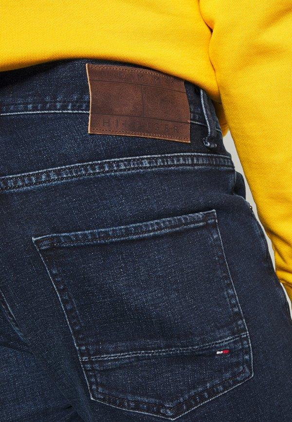 Tommy Hilfiger CORE DENTON STRAIGHT - Jeansy Straight Leg - bridger indigo/niebieski denim Odzież Męska CABC