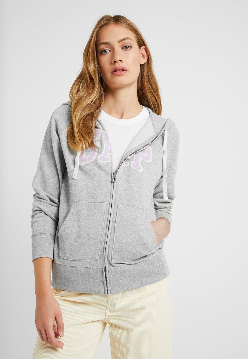 Gap Tall - Mikina na zip - light heather grey