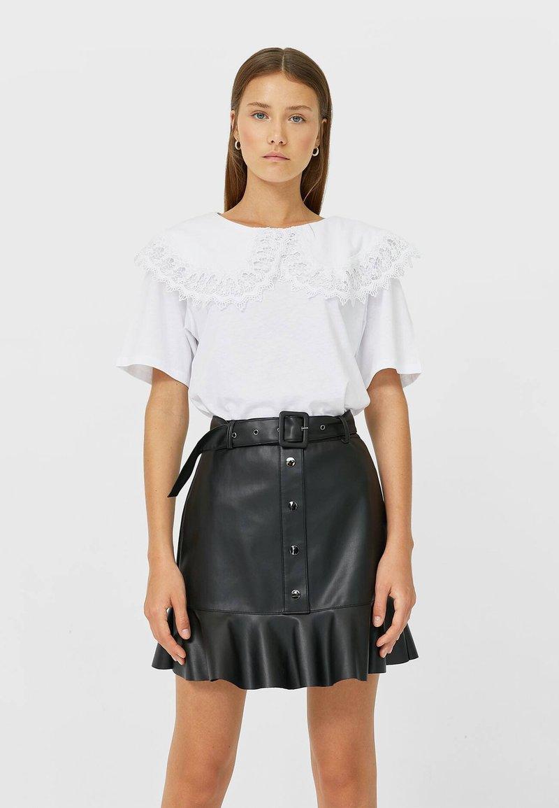 Stradivarius - Mini skirt - black