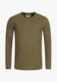 INDICODE JEANS - LONGSLEEVE WILLBUR - Long sleeved top - dark green - 5