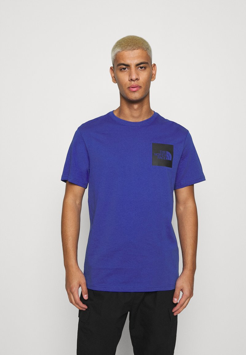 The North Face - FINE TEE - T-shirts med print - blue