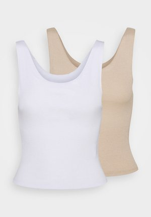 KERR TANK 2 PACK - Top - white/latte