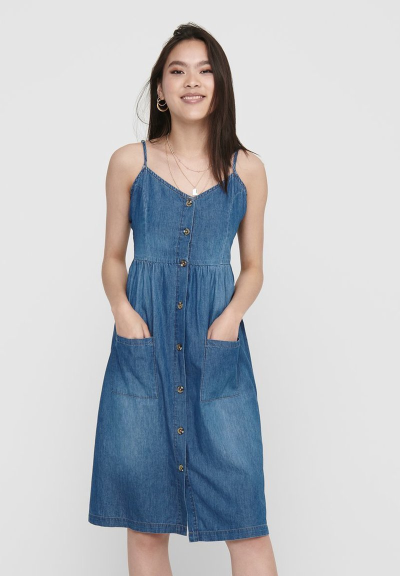 JDY - Robe en jean - medium blue denim