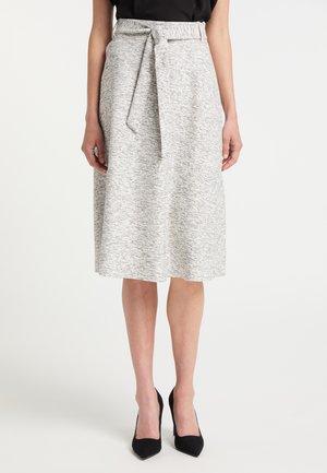 A-line skirt - schwarz weiss melang