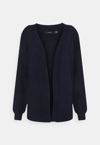 VMLEFILE BALLOON OPEN PETITE - Cardigan - navy blazer