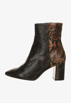High heeled ankle boots - dark brown