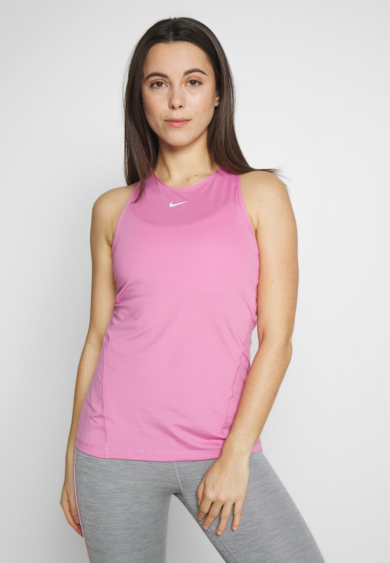 Nike Performance - TANK ALL OVER  - Funktionstrøjer - magic flamingo/white