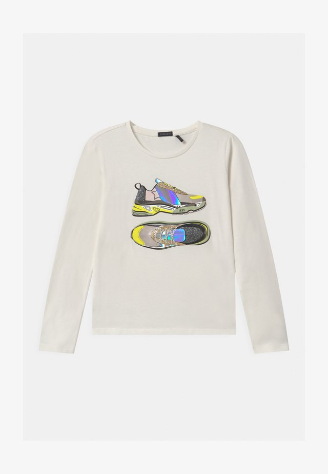 HOLOGRAM SHINING SNEAKERS - Long sleeved top - blanc cassé