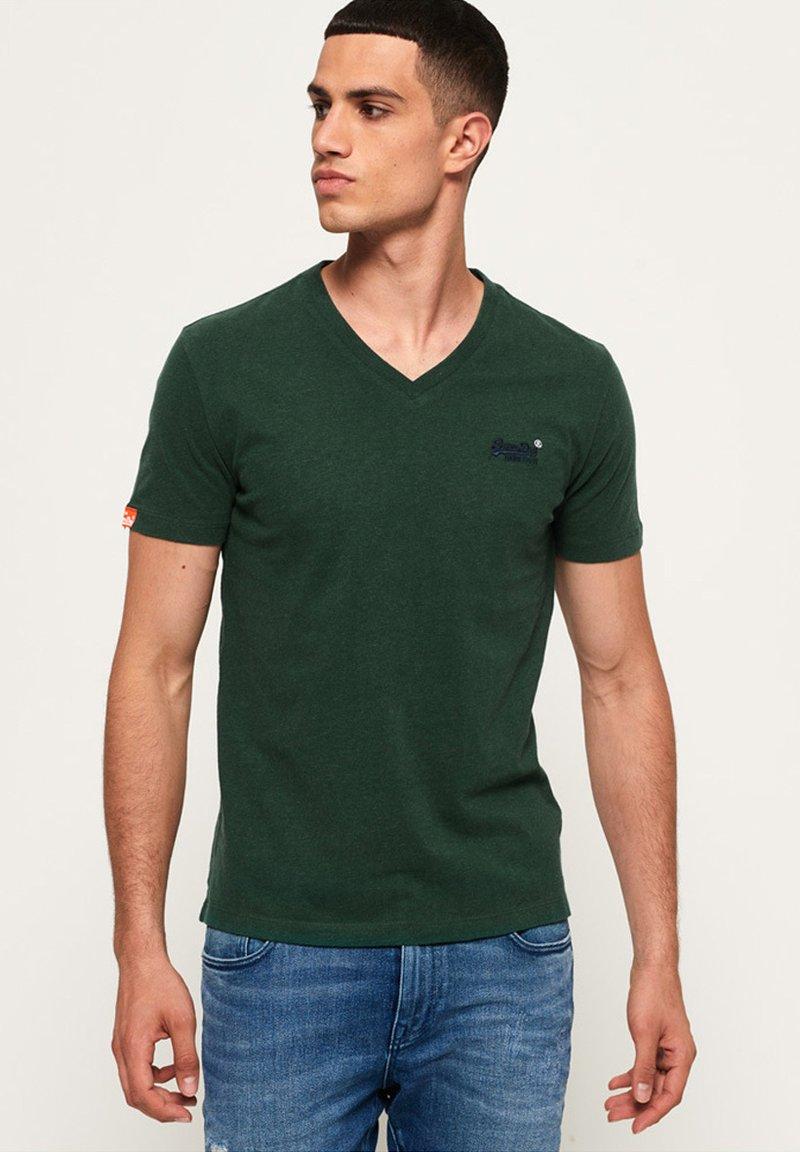 Superdry - T-shirt basic - buck green marl