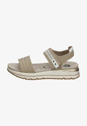 Sandały na koturnie - beige/kombiniert