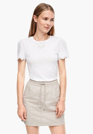 MIT EMBROIDERY - Bluse - white