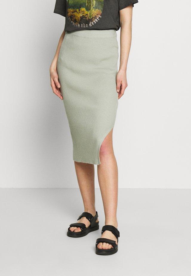 BYMALTO SKIRT - Pencil skirt - sea green