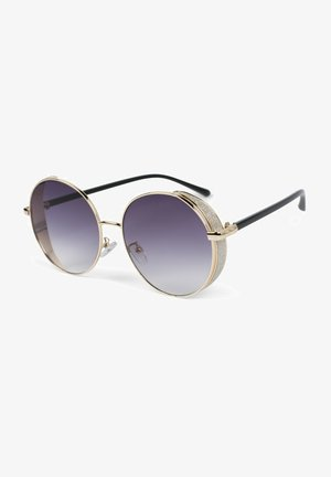 Sunglasses - gestell gold / glas grau