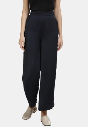 DREIMASTER SATIN CULOTTE HOSE - Trousers - schwarz