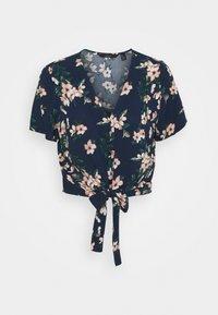 Vero Moda - VMSIMPLY EASY SHIRT TIE - Blouse - navy blazer/imma - 0