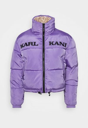 RETRO REVERSIBLE SHORT PUFFER JACKET - Zimní bunda - lilac