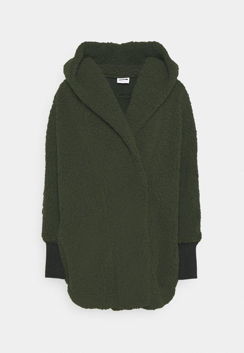 Noisy May Petite - NMCUDDLE COATIGAN - Zimní kabát - kalamata