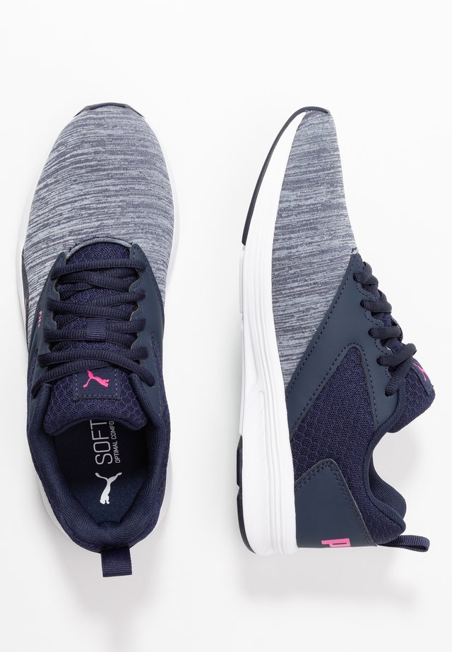 NRGY COMET - Neutral running shoes - peacoat/glowing pink