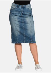 Sheego - Denim skirt - blue denim - 0