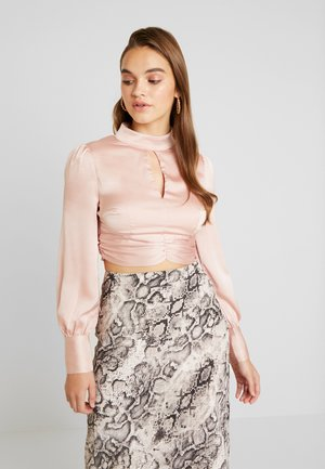 Blouse - nude sateen