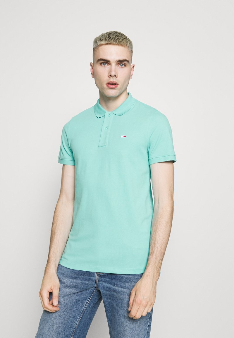 Tommy Jeans - CLASSICS SOLID  - Polo shirt - blue