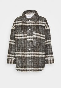 Missguided Petite - BRUSHED CHECKED SHACKET - Light jacket - brown - 0