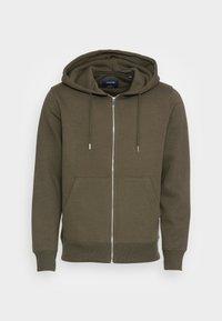JESOFT BASIC ZIP HOOD - Zip-up sweatshirt - forest night