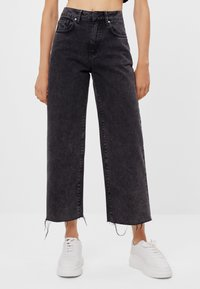 Bershka - Jeans Straight Leg - black denim - 0