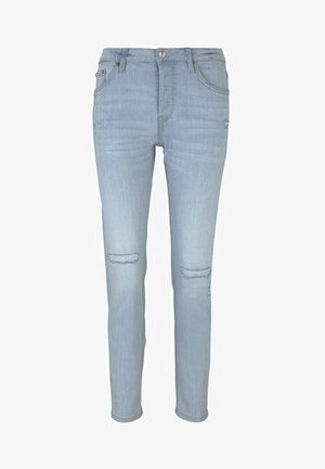 Slim fit jeans - destroyed light stone blue den