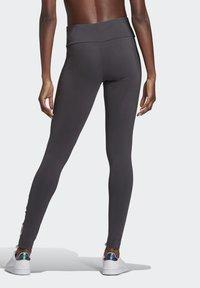 adidas Performance - LIN LEG - Leggings - dgsogr/clpink - 1