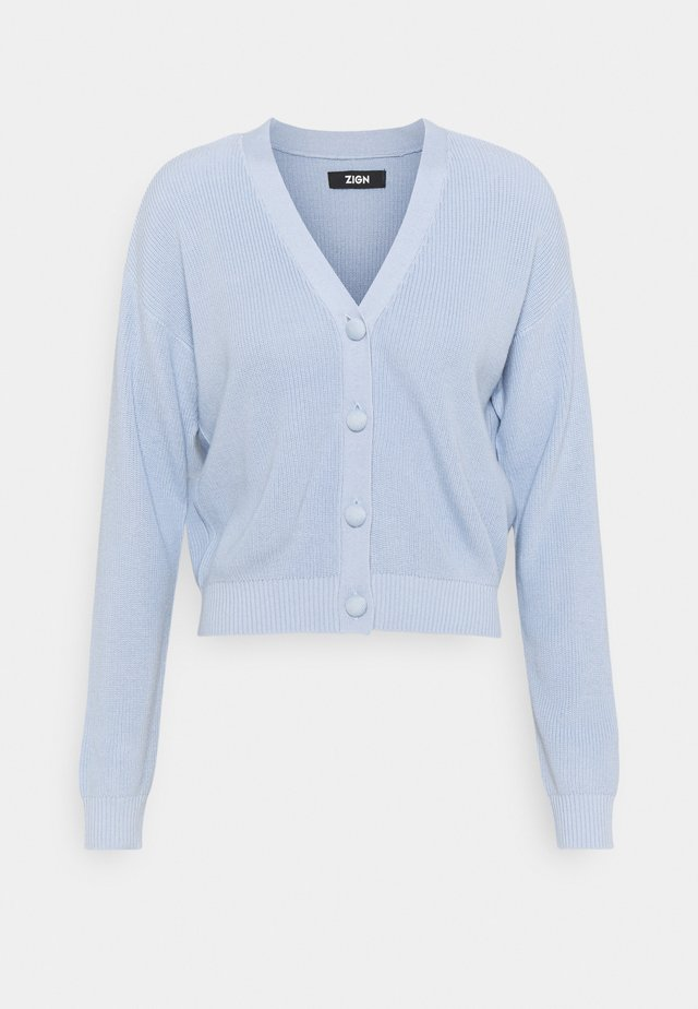 SHORT CARDIGAN - Vest - blue