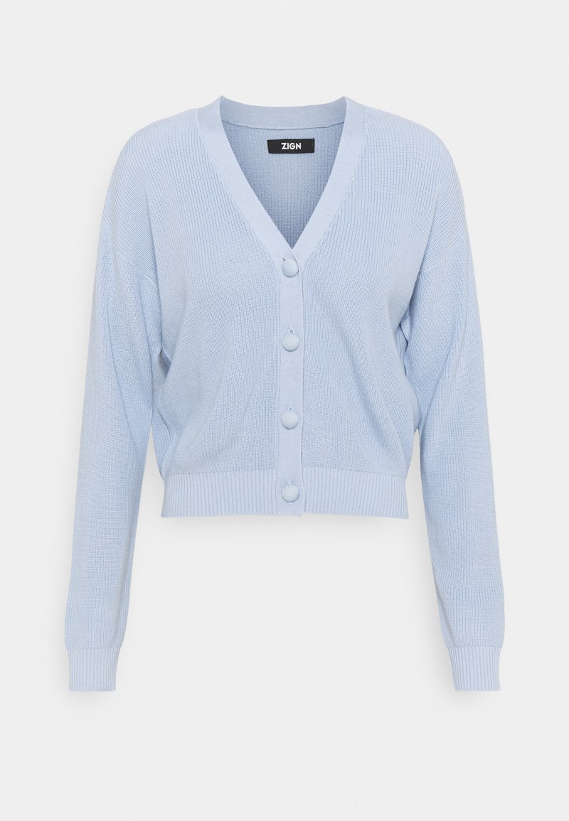 Zign - SHORT CARDIGAN - Kardigan - blue