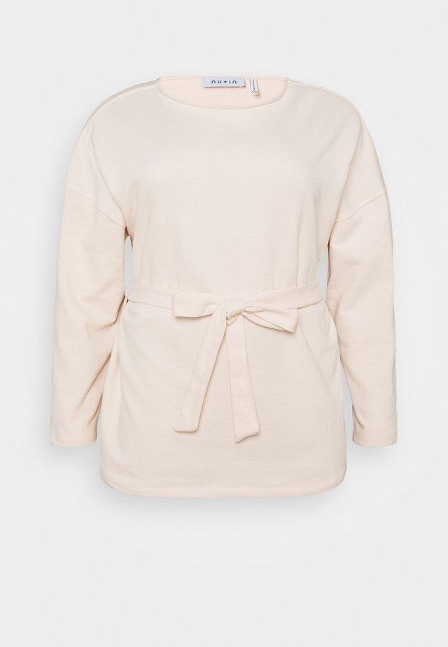 BELTED LONG SLEEVE - Sweatshirt - pink