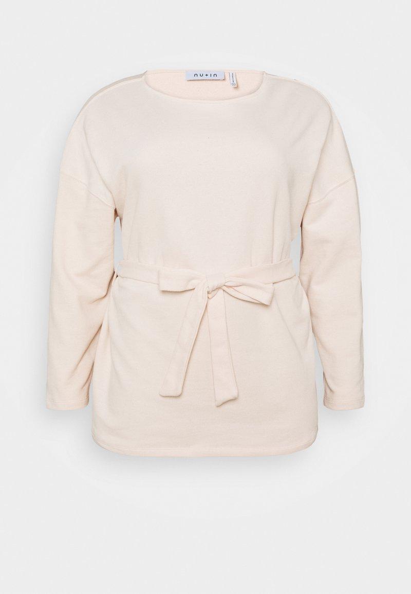NU-IN - BELTED LONG SLEEVE - Sweatshirt - pink