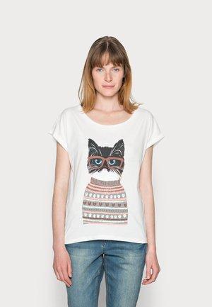 AMAT - Print T-shirt - snow white